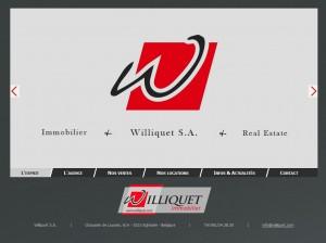 Williquet.com : Page d'accueil avec slider