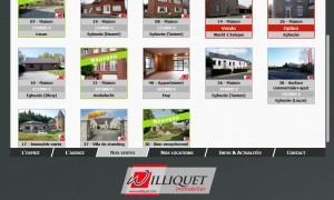 Williquet.com : Page liste des biens