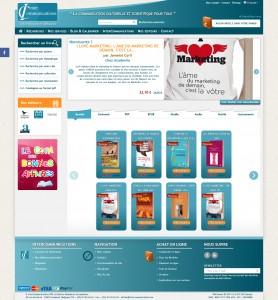 Page d'accueil du site eme-editions.be en version normale