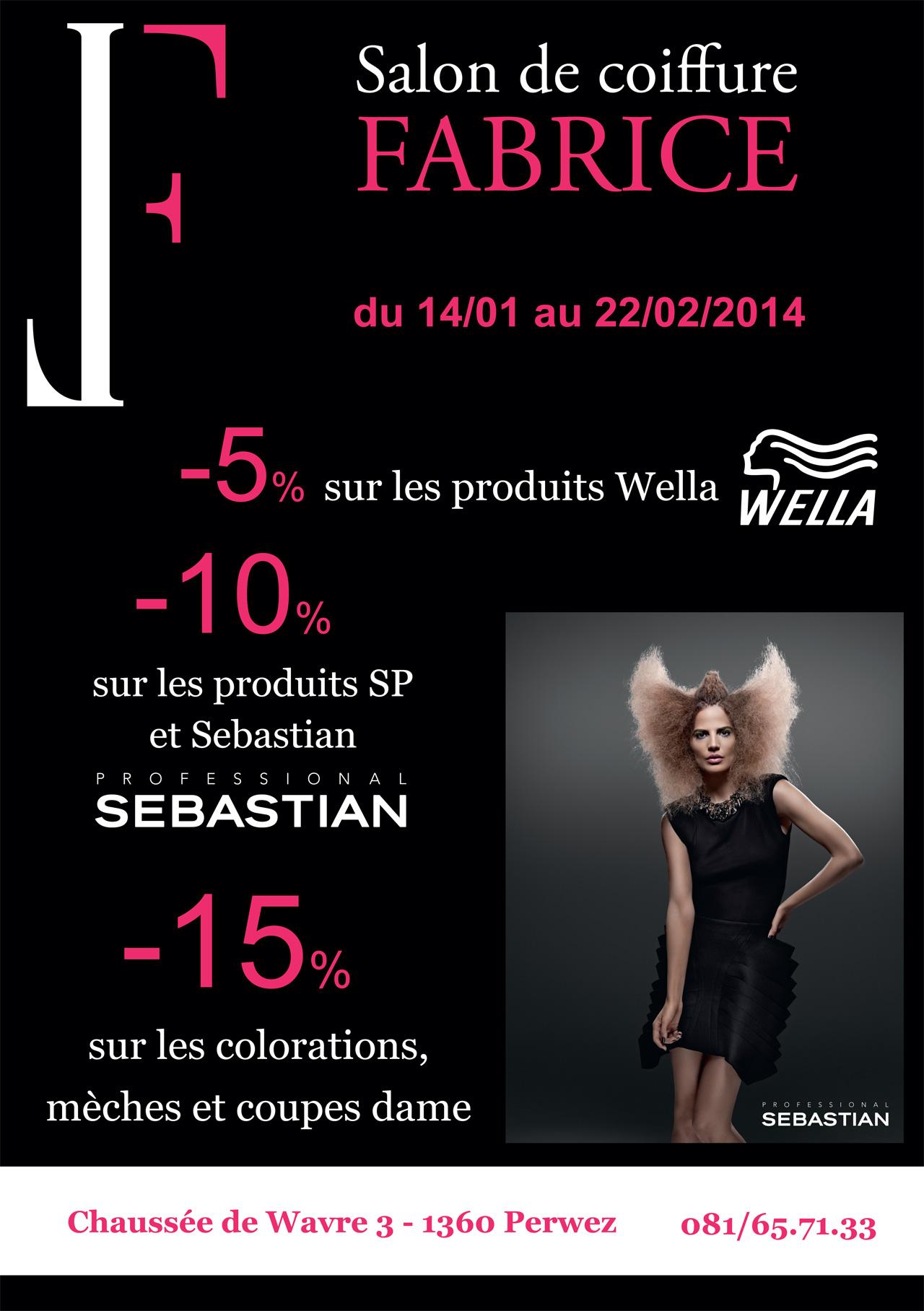 Affiche folders salon de coiffure fabrice pixographics for Salon de coiffure venissieux centre