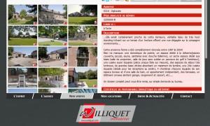 Williquet.com : Page descriptive d'un bien